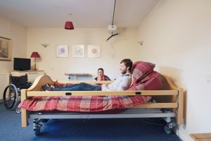 Man in Bed Accessible Living
