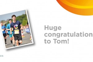 Tom's on track for his first marathon